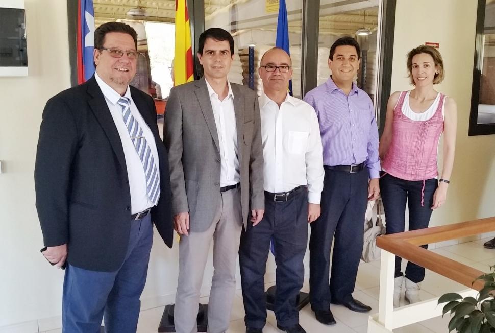 Marc Castells visita les noves instal·lacions de Leather Química a Les Comes
