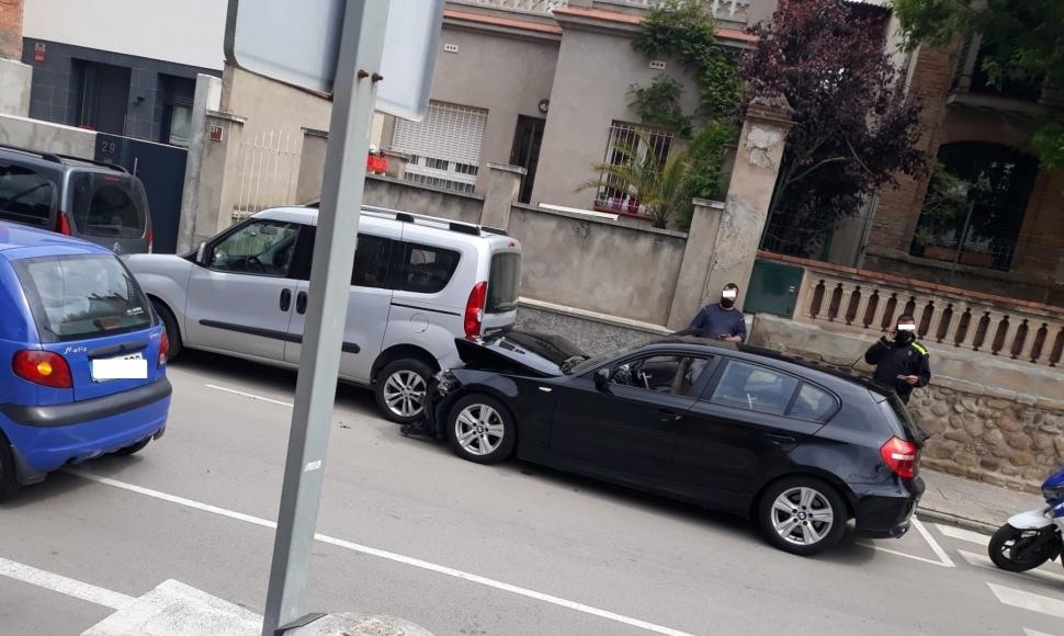 Col·lisió sense ferits a l'Avinguda Vilanova d'Igualada