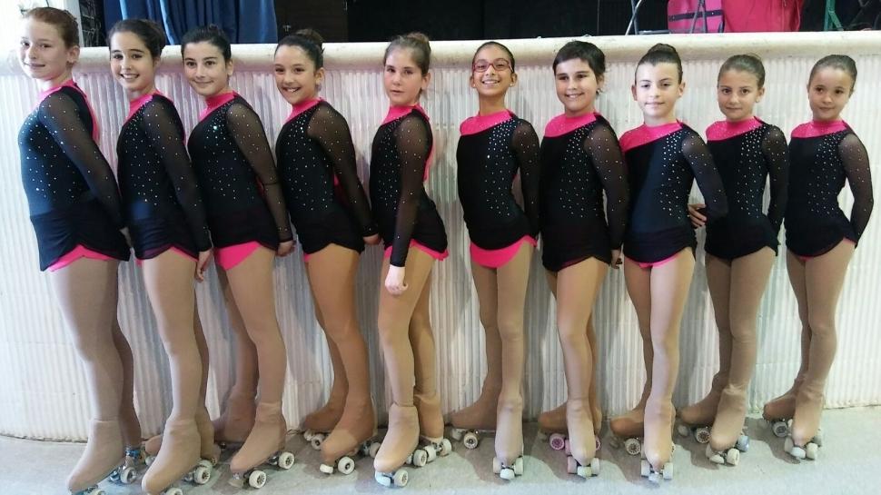 Les noies del Club Patinatge Artístic es llueixen a Sant Cebrià