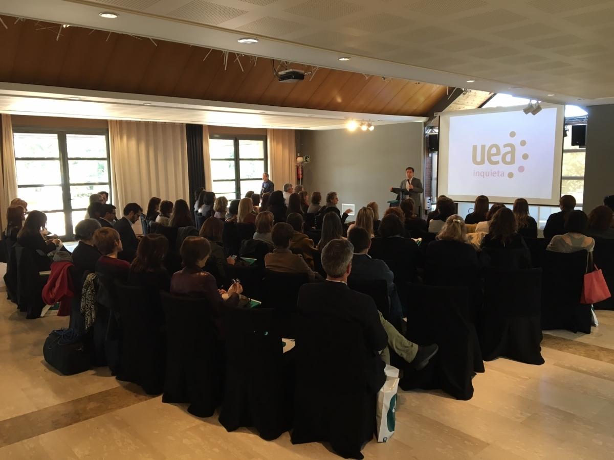 Un moment de la presentació de la UEA Inquieta