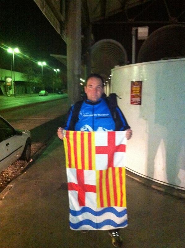 Jaume Oromí, a l'estació d'Igualada
