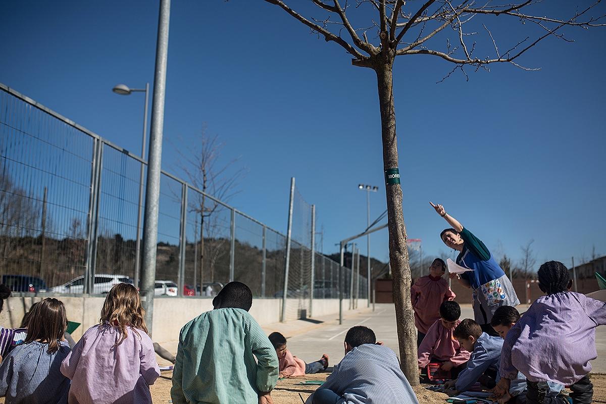 L'escola olotina Sant Roc, un exemple de polítiques d'integració FOTO: C. Palacio