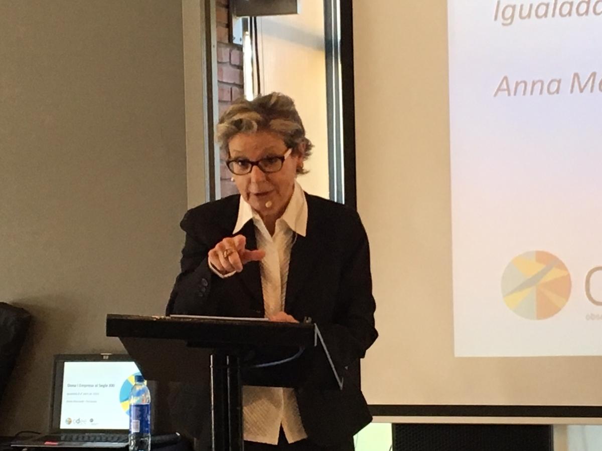 Anna Mercadé, Directora de l'Observatori Dona, Empresa i Economia de la Cambra de Comerç de Barcelona