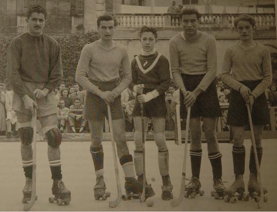 D'esquerra a dreta: Trescents, Rius, Roca, Segura, Palmes. Foto: arxiu J.M. Vives
