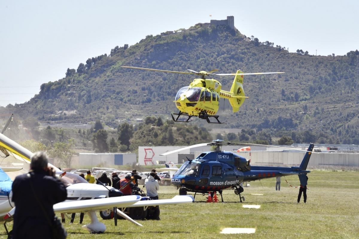 Una de les activitats amb els equips de salvament