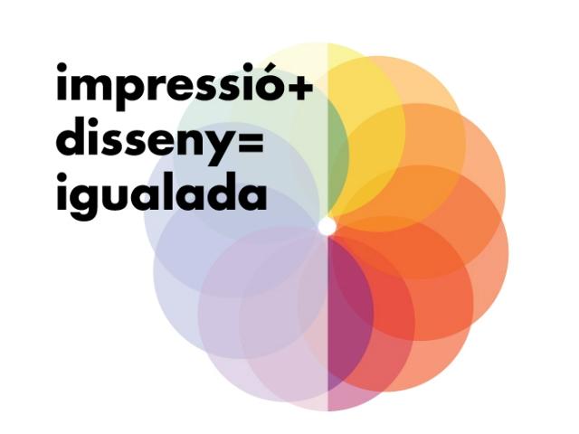 Logotip d' ''Impressió+disseny=igualada''