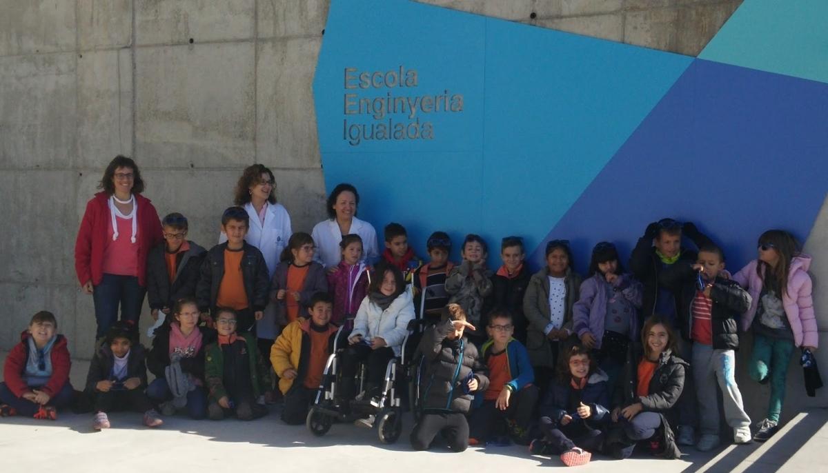 Una activitat del Dolors Martí, l'escola pública més recent d'Igualada, amb deu anys