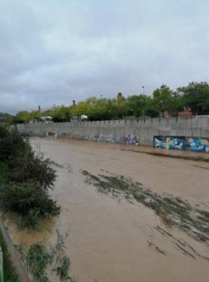 El riu Anoia, després de les pluges d'aquest diumenge FOTO: Oriol Panadès