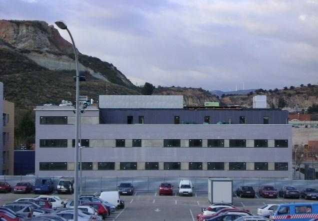 L'Àrea Bàsica és just darrere de l'hospital