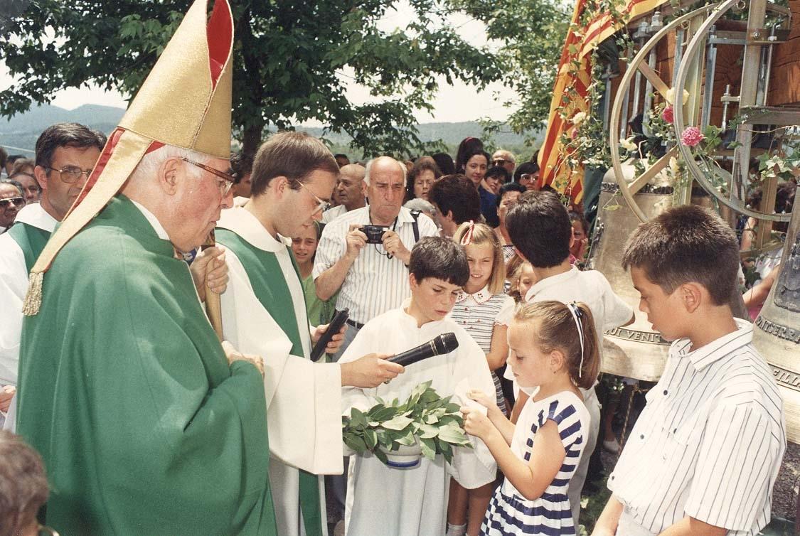 L'acte de consagració de les campanes, fa trenta anys