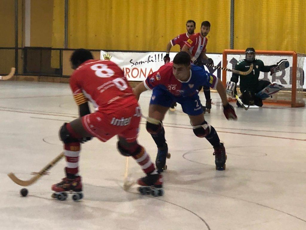 Jordi Méndez, defensant un atac gironí