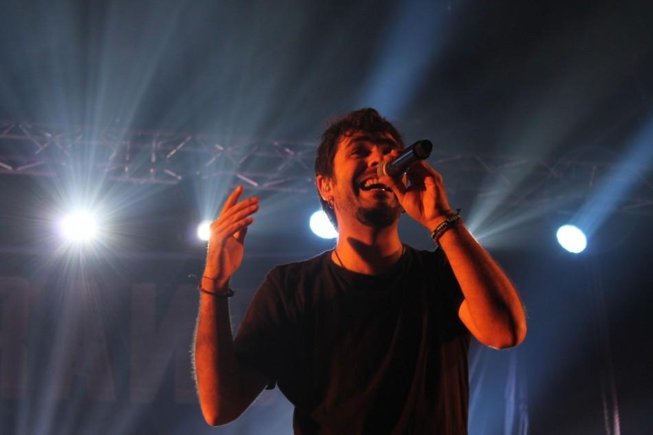Alguer Miquel, en el concert a Calaf de Txarango