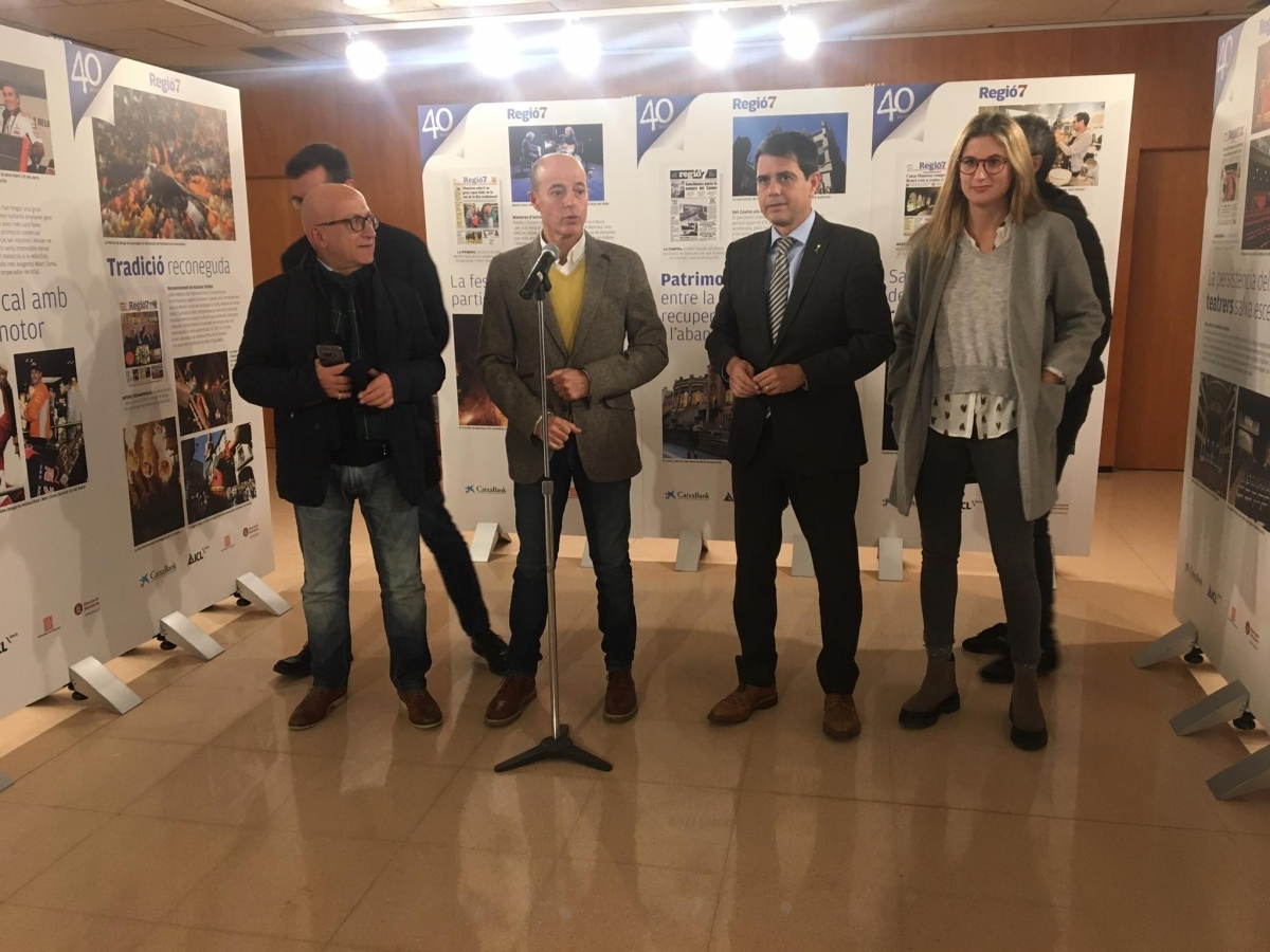Marc Marcé i Marc Castells, al centre de la imatge, van fer els parlaments /Foto: TCM)
