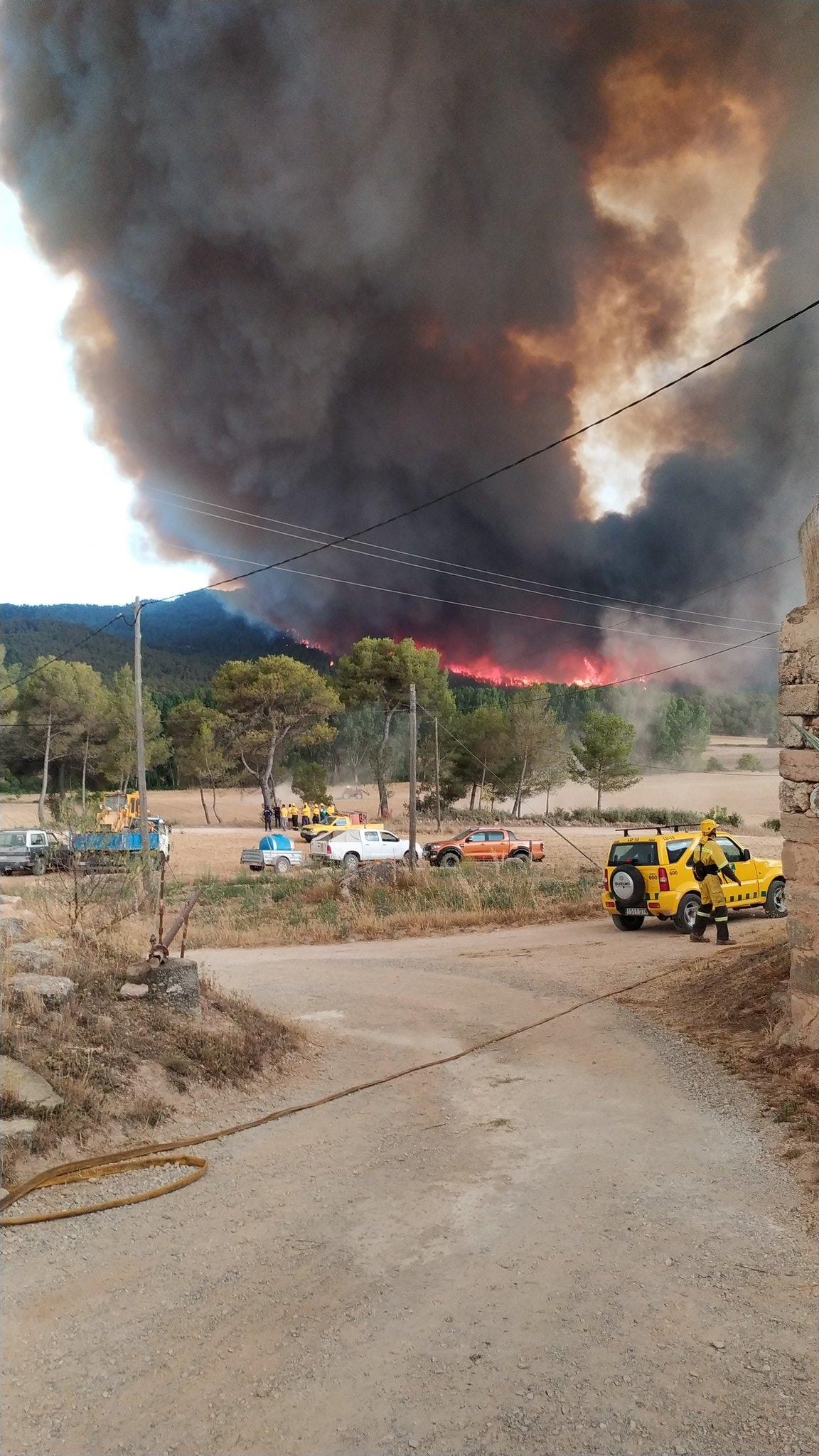 L'incendi a Tous FOTO: Cesc Vidal