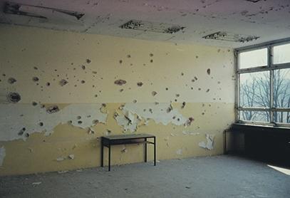 Antiga escola de Travnik, malmesa per la metralla