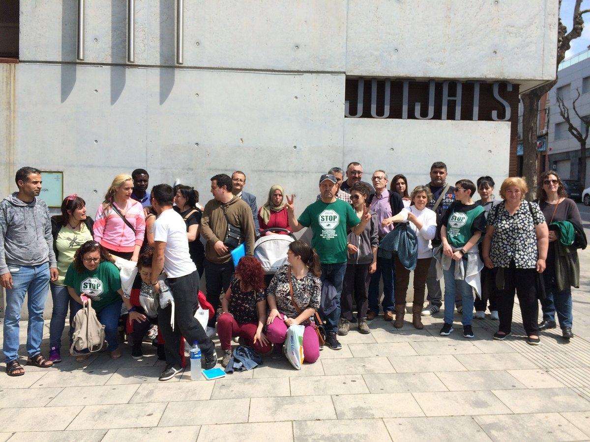 Una mobilització de la PAH l'any passat, davant els jutjats d'Igualada