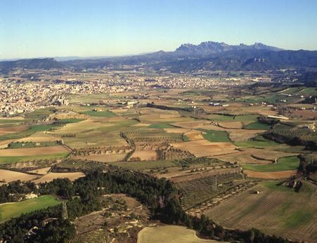 Vista aèria de la Conca d'Òdena