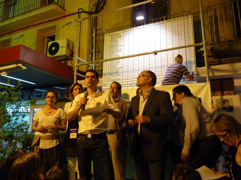 Marc Castells en el discurs després d'haver-se sabut guanyador