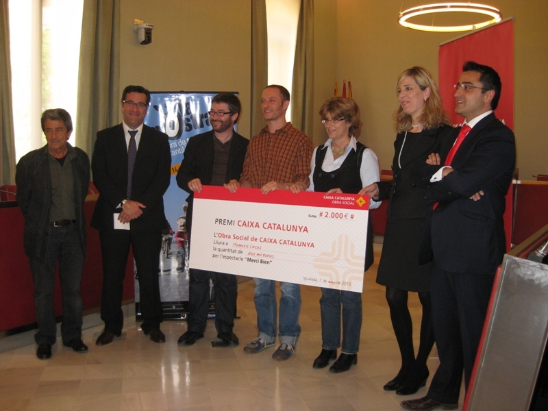 Antoni Bartomeus, Jordi Riba, Òscar Balcells, Marçal Calvet, Maria Enrich, Anna Olsina i Francesc Sanz (Caixa Catalunya)