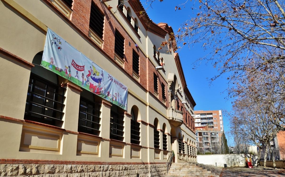 El CEIP Garcia Fossas, un dels cinc centres públics d'Igualada