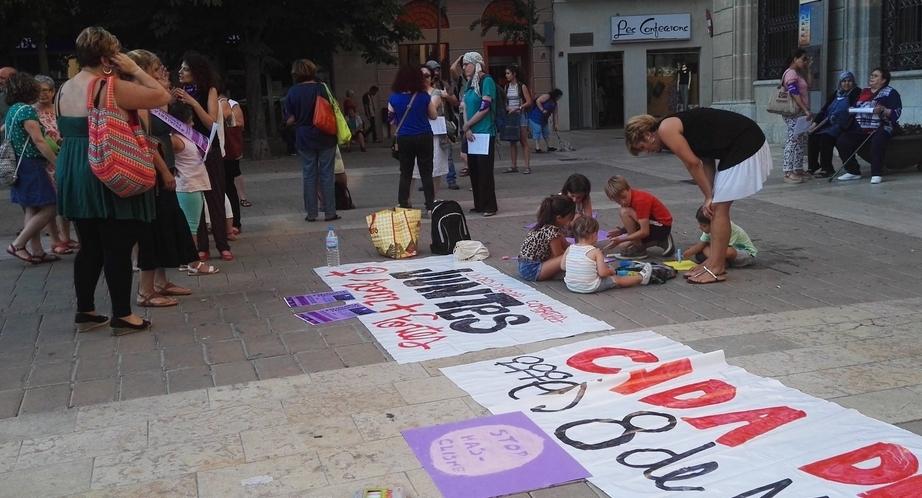 Una de les mobilitzacions de la Plataforma, aquest 2017, davant l'Ajuntament d'Igualada