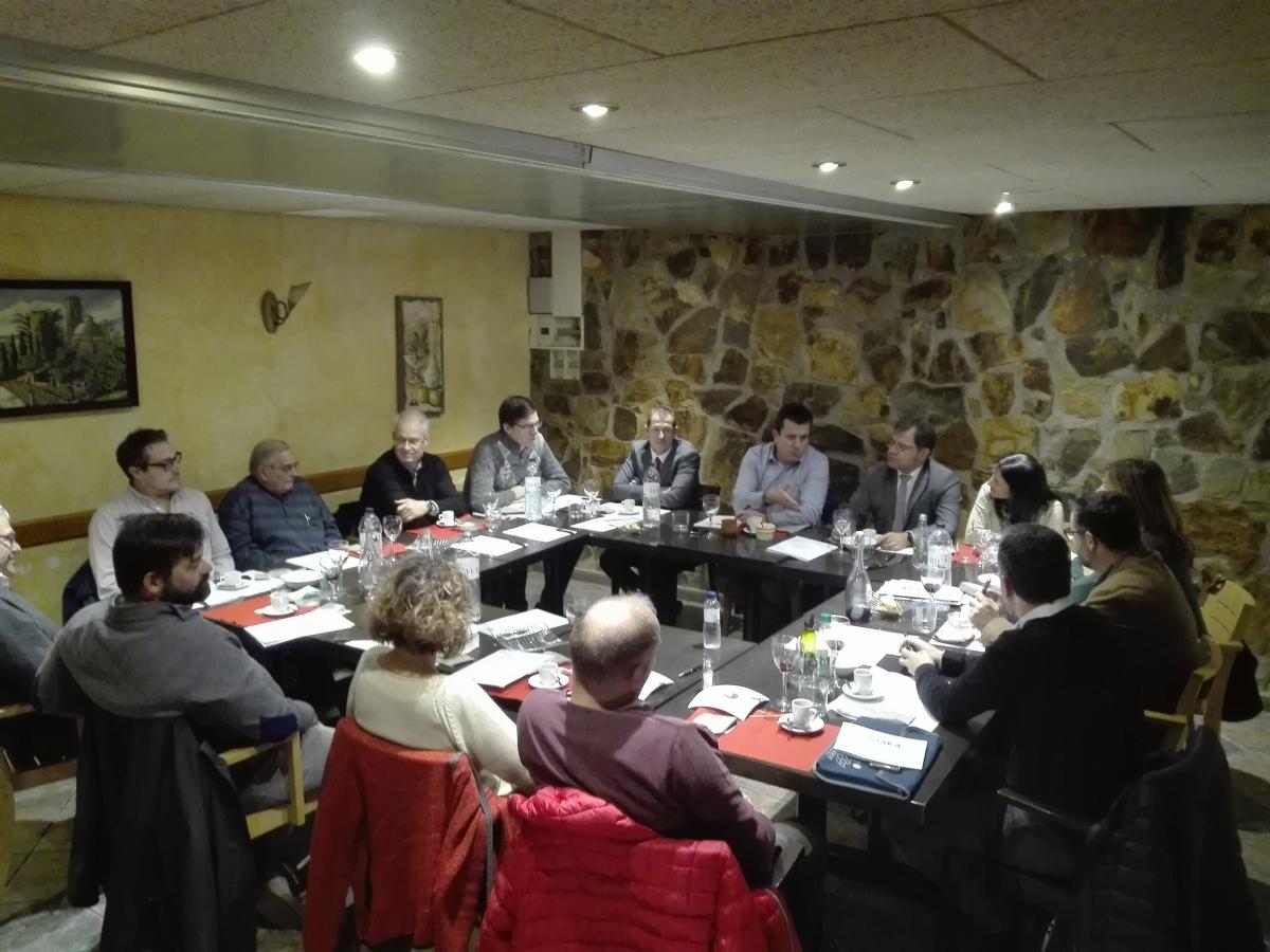 La trobada amb els empresaris pierencs, la setmana passada