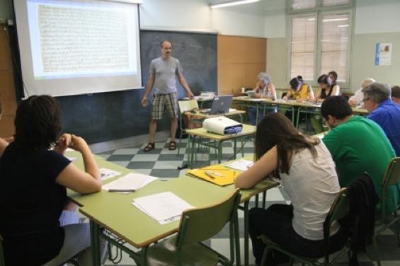 Classe d'una edició passada de la universitat d'estiu