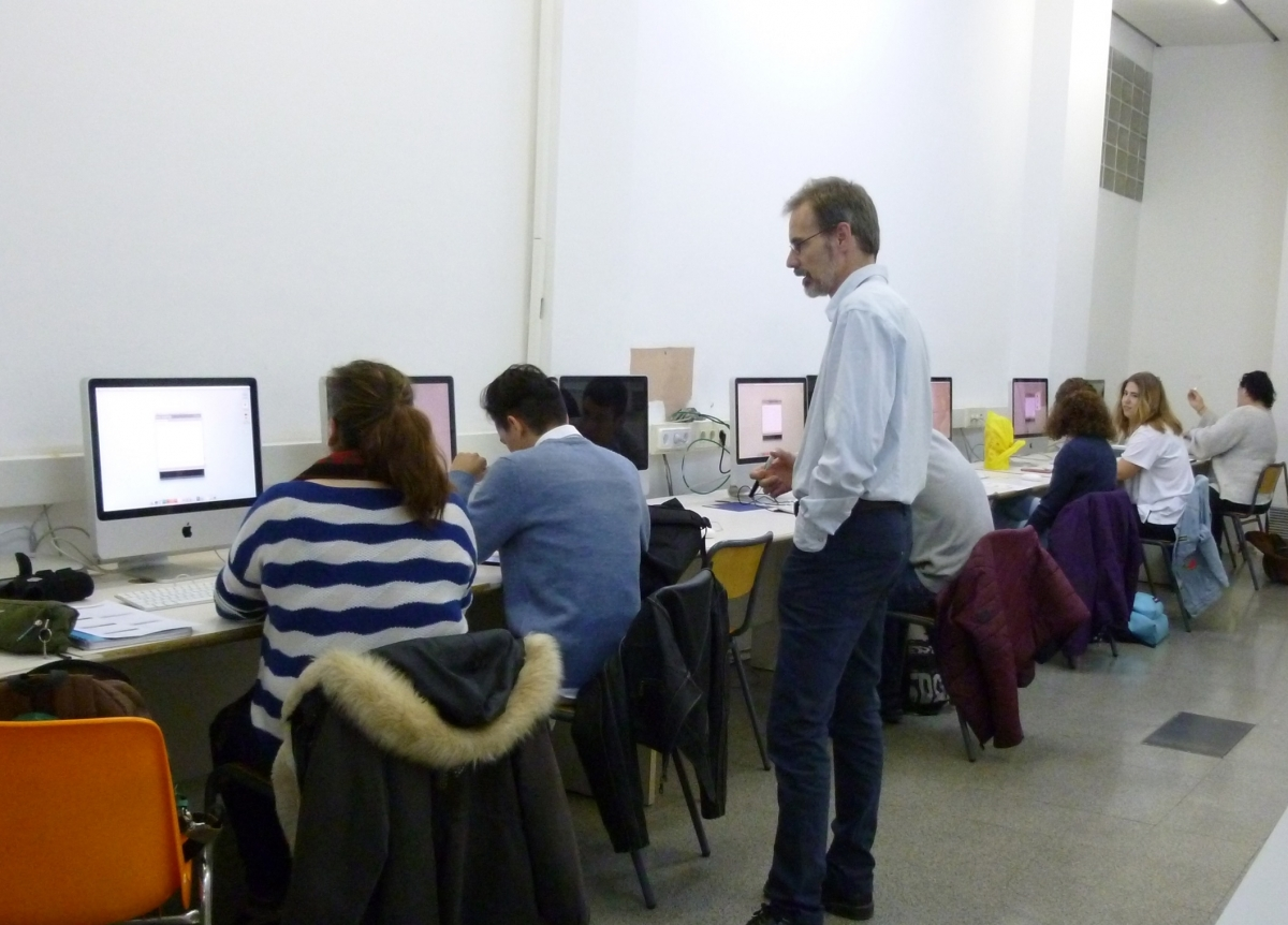 La sessió amb Marc Paré, a les instal·lacions de l'escola
