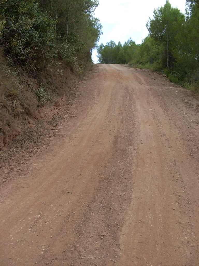 Camí de pujada al Pla del Magre, Jorba