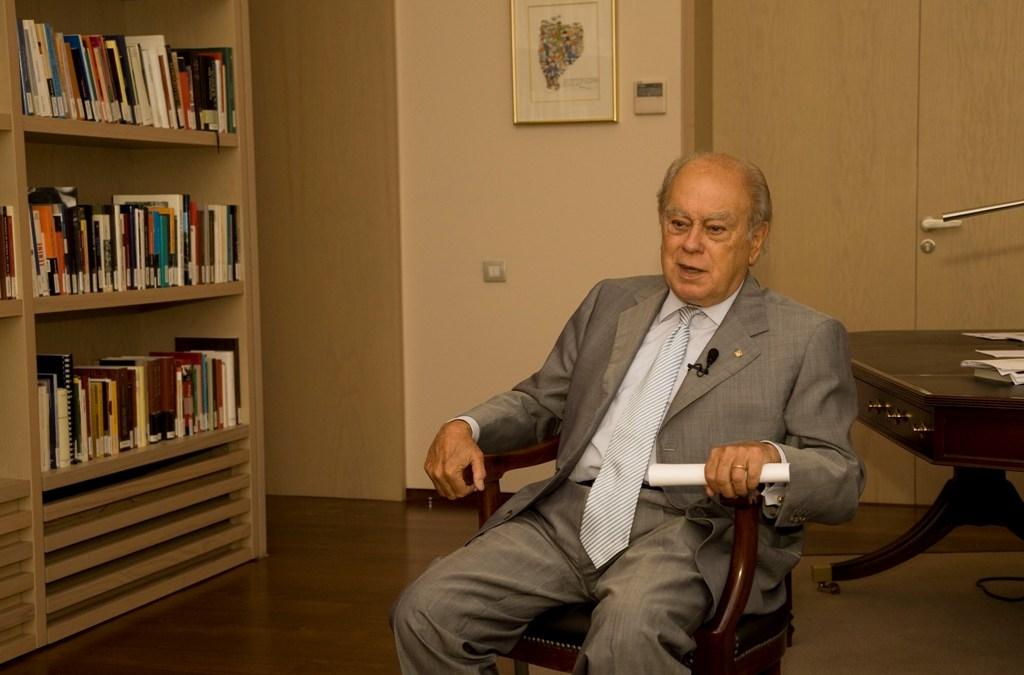 Jordi Pujol al seu despatx