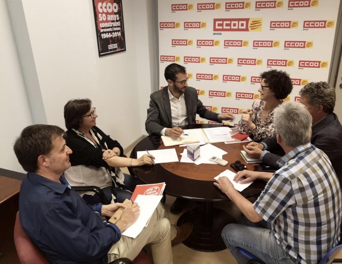 La trobada, a la seu de CCOO