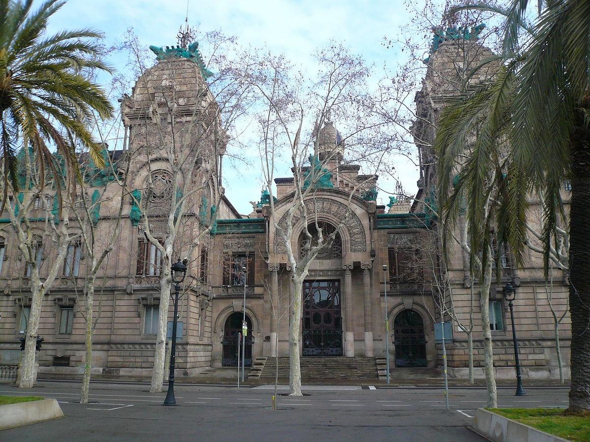 El palau de l'Audiència Provincial