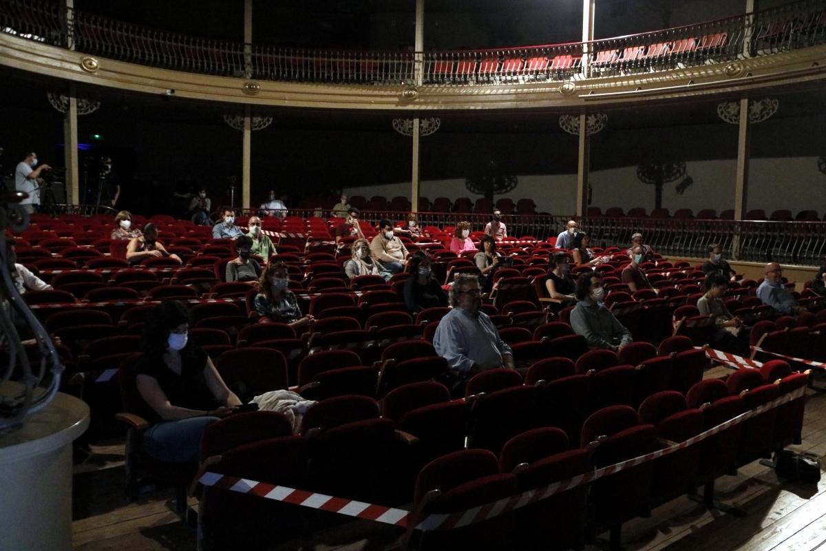 L'aspecte del teatre, el passat divendres FOTO: ACN