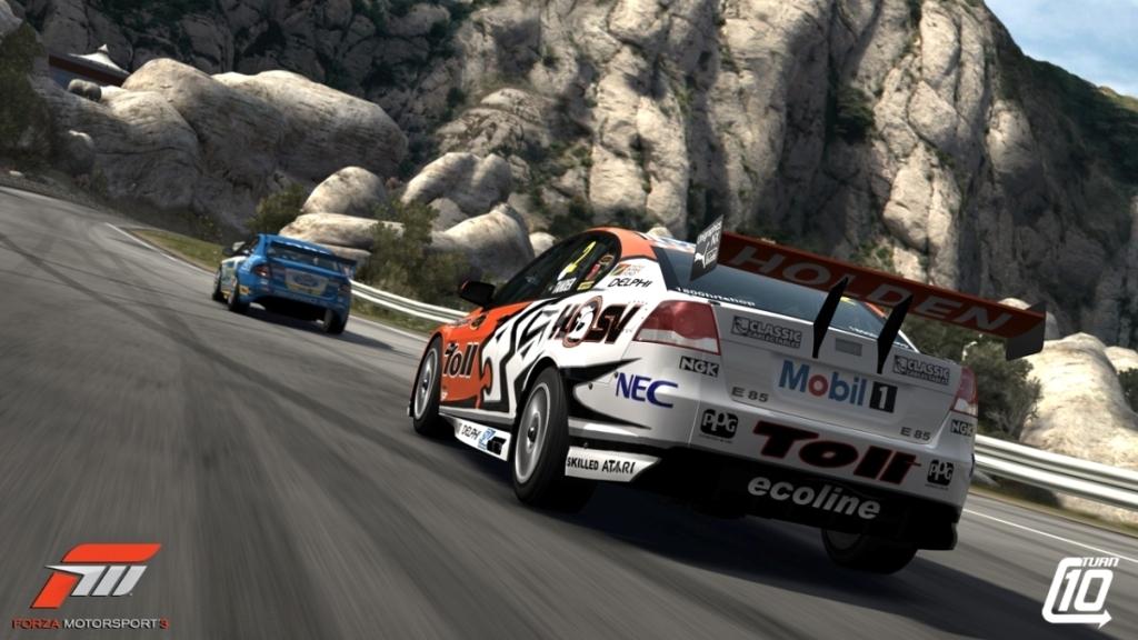 Un dels vehicles del videojoc recorrent la carretera d'accés a Montserrat.