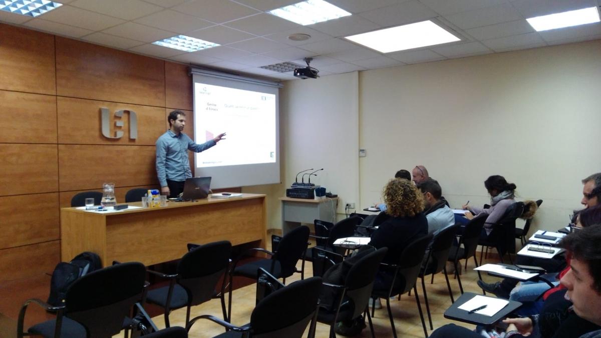 La sessió formativa de Joan Casanovas, a la UEA