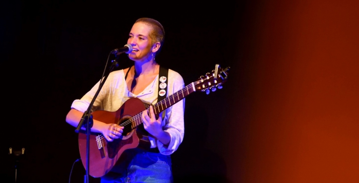 Alidé Sans, en una actuació a Igualada FOTO: J. Soler