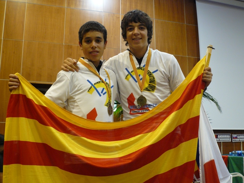 Els joves Bernat Seuba i Armand Mollà