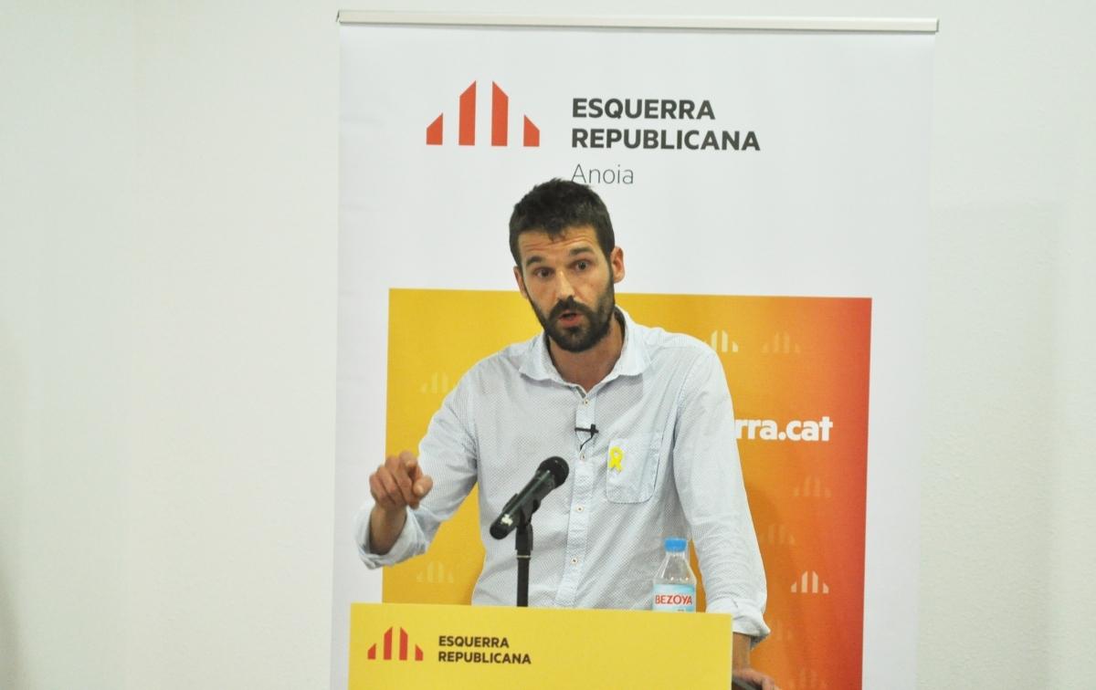El portaveu republicà, durant la campanya del 2019