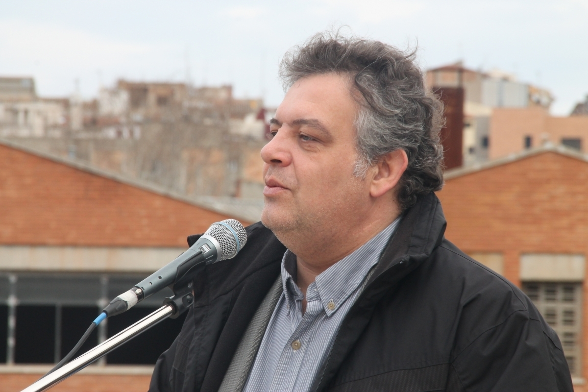 Romero, alcalde de Montbui, en un acte del 2015
