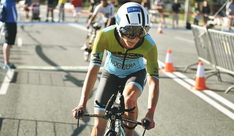 Noguera, durant la prova de bicicleta FOTO:Triatlonweb