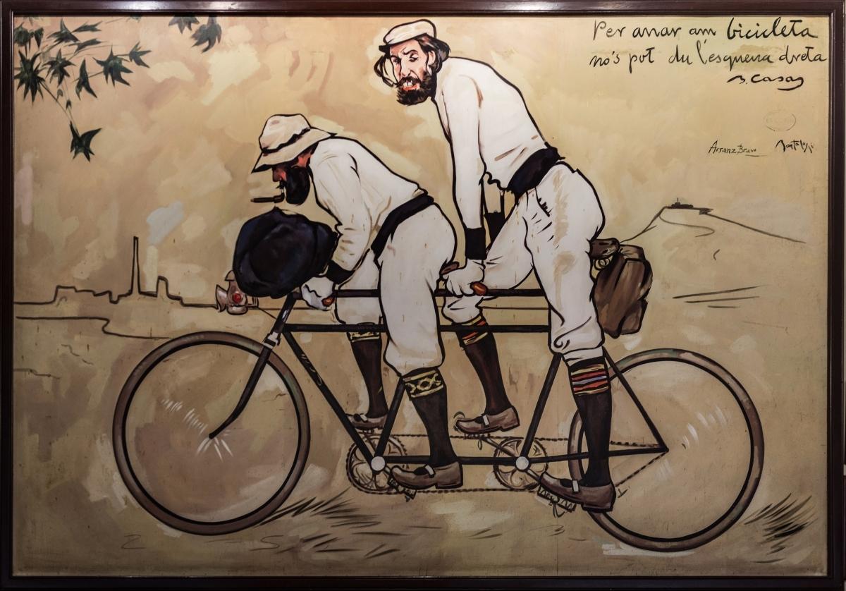 La icònica imatge de Pere Romeu i Ramon Casas