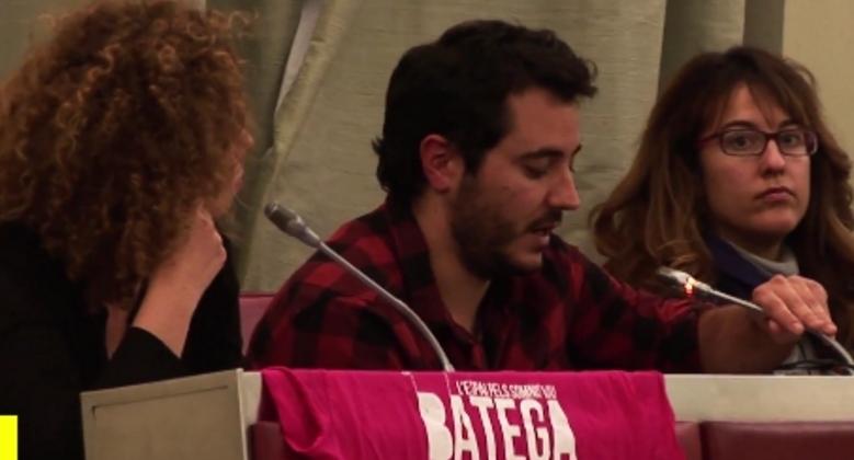 Una intervenció del cupaire Albert Mateu, en un ple del 2016
