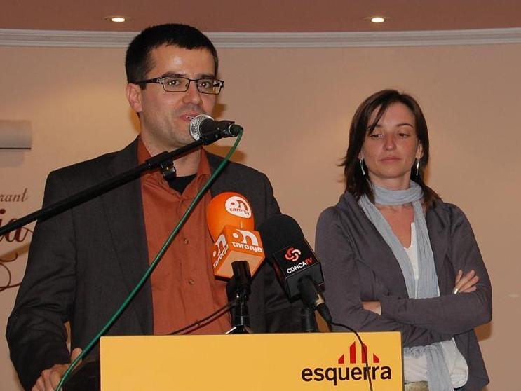 Josep Mª Palau i Marina Llansana en un acte recent - arxiu