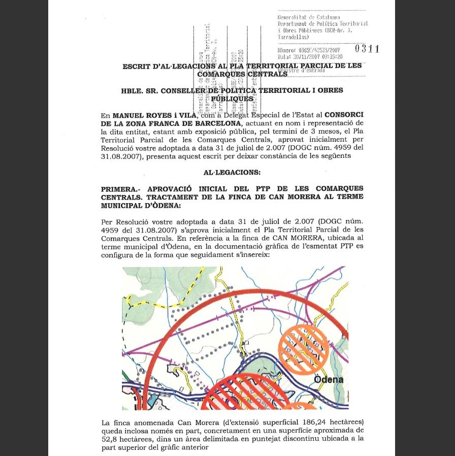 Al·legacions presentades des del Consorci de la Zona Franca