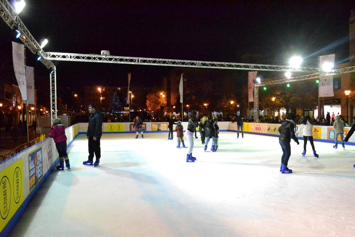 La pista de gel, oberta el desembre de fa un any