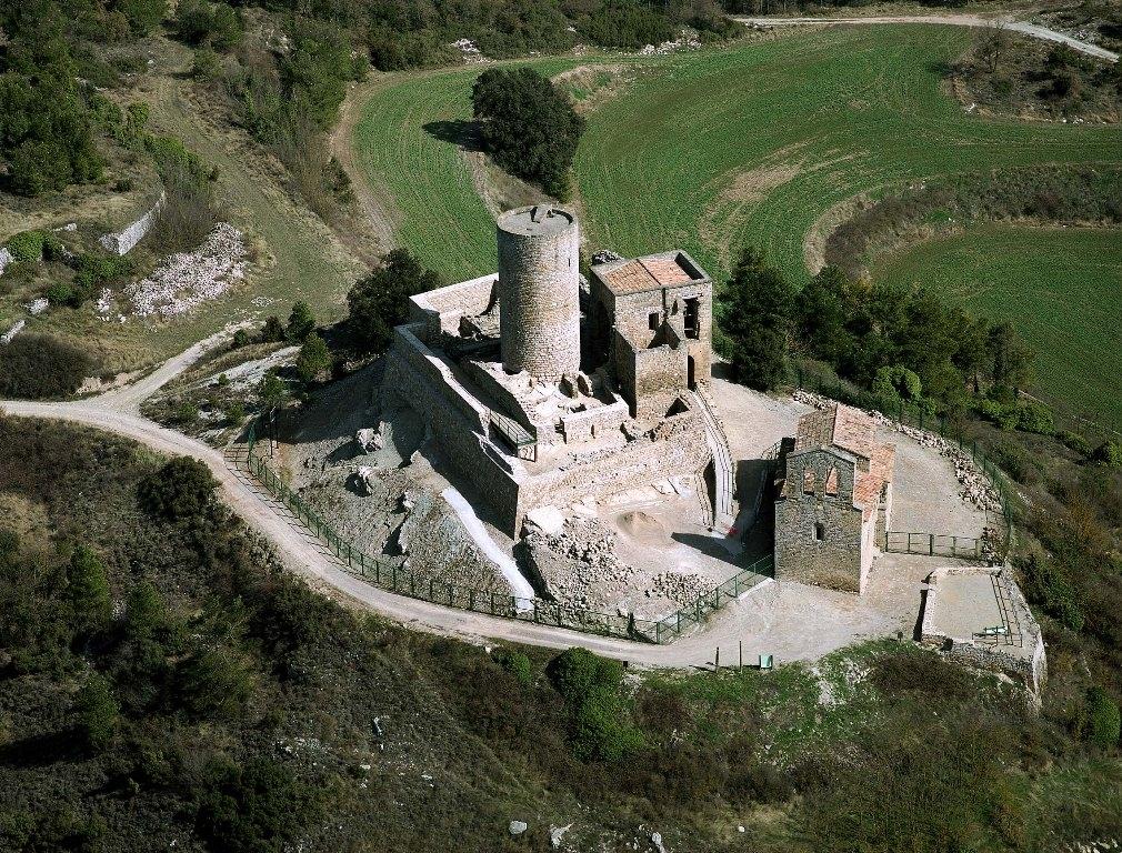 EL Castell de Boixadors - fotografia de la Diputació de Barcelona