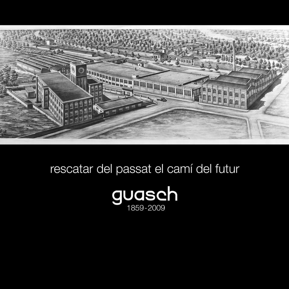 Imatge de la fàbrica Guasch, com era antigament