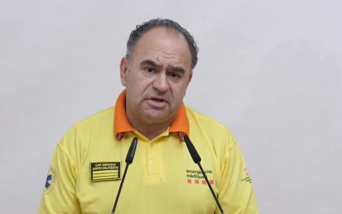 Josep Maria Soto, durant la compareixença