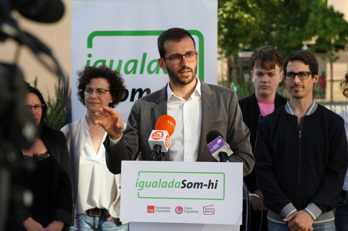 El portaveu, Jordi Cuadras, durant la campanya