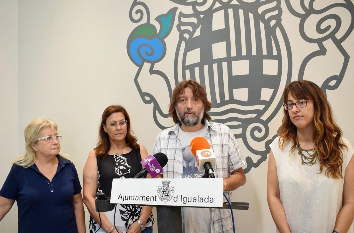 La presentació del festival, a l'Ajuntament d'Igualada